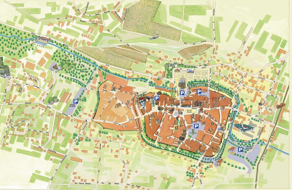 Plan Ville Obernai