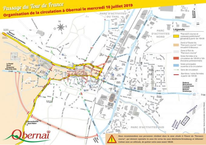 PLAN TOUR DE FRANCE OBERNAI 2019